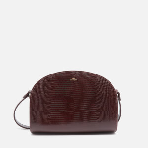 A.P.C. Women's Half Moon Lizard Bag - Vino