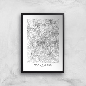 Manchester City Map Giclee Art Print