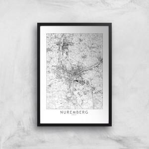 Nuremberg City Map Giclee Art Print