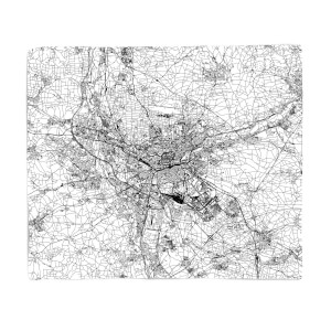 Nuremburg City Map Fleece Blanket