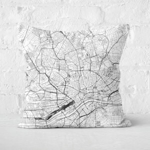 Frankfurt City Map Square Cushion