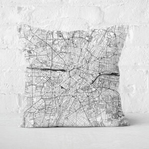 Munich City Map Square Cushion