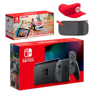 Nintendo Switch (Grey) Mario Kart Live: Home Circuit - Mario Set Pack