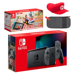 Nintendo Switch (Grey) Mario Kart Live: Home Circuit - Mario Set Pack