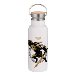 Legend Of Zelda Bamboo Portable Insulated Water Bottle - Steel