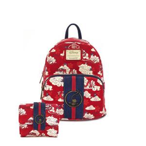 Loungefly Disney Mulan Mushu Cloud Mini Pu Backpack and Wallet Set