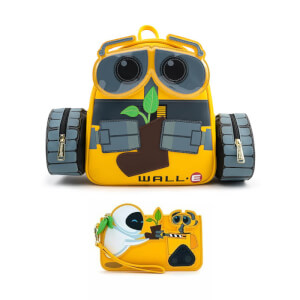 Loungefly Disney Wall-E Plant Boot Mini Pu Backpack and Wallet Set