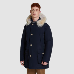 Woolrich Men's Arctic Fur Collar Parka - Melton Blue
