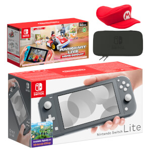 Nintendo Switch Lite (Grey) Mario Kart Live: Home Circuit - Mario Set Pack