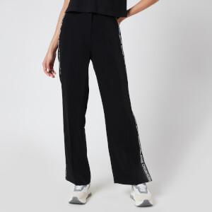 Calvin Klein Jeans Women's Outline Logo Wide Leg Pants - CK Black