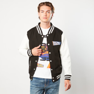 Back to the Future Varsity Jacket - Black / White