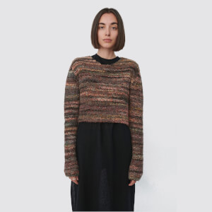 Our Legacy Women's Shrunken Jumper - Green/Red Smudge Fair Isle