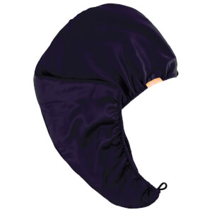 Exclusive Aquis Charmeuse 2 Layer Turban - Midnight Blue