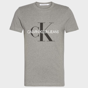 CK Jeans Men's Iconic Monogram T-Shirt - Mid Grey Heather