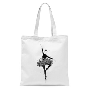 Floral Dance Tote Bag - White