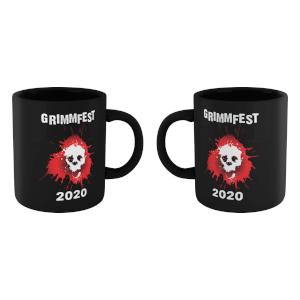 Grimmfest 2020 Skull Logo Mug - Black