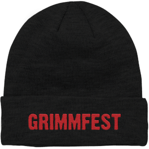 Grimmfest 2020 Font Logo Embroidered Beanie