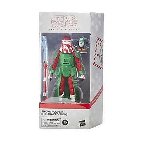 Hasbro Star Wars The Black Series Snowtrooper (Holiday Edition) and Porg 6-Inch Scale Action Figure