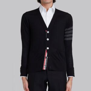 Thom Browne Men's Engineered 4-Bar Stripe Wool Cardigan - Black