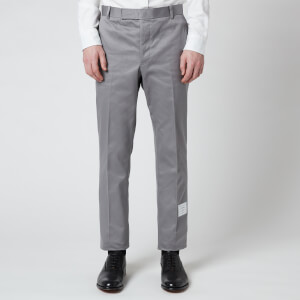 Thom Browne Men's Unconstructed Chino Trousers - Medium Grey