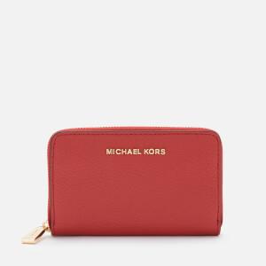 Michael Michael Kors Women's Jetset Small Za Card Case - Terracotta