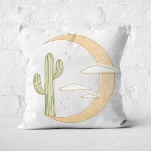 Moon Cactus Square Cushion