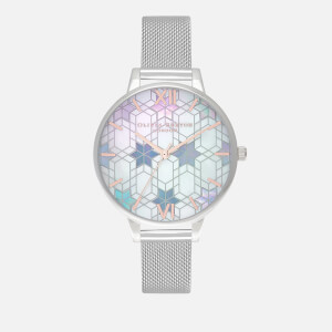 Olivia Burton Women's Ice Queen Mesh Watch - Silver