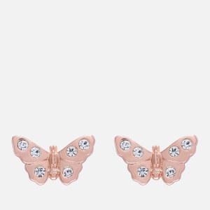 Olivia Burton Women's Sparkle Butterfly 3D Sparkle Butterfly Stud Earrings - Rose Gold