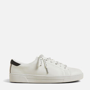 Ted Baker Women's Merata Webbing Detail Trainers - White Grey