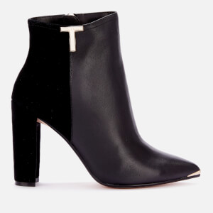 Ted Baker Women's Qinala T Detail Leather Boots - Black