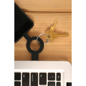 Charge And Sync Keychain Black