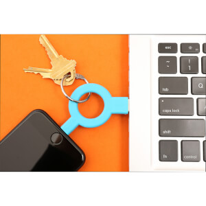 Charge And Sync Keychain Blue