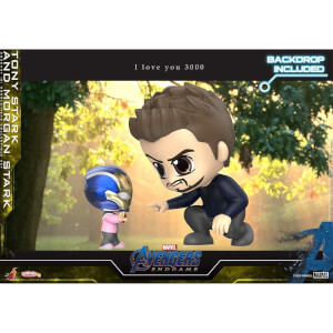 Hot Toys Cosbaby Marvel Avengers: Endgame - Tony Stark & Morgan Stark (Set of 2) Figure