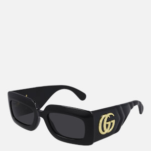 Gucci Women's Rectangle Frame Sunglasses - Black/Grey