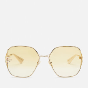Gucci Women's Metal Frame Sunglasses - Gold/Yellow