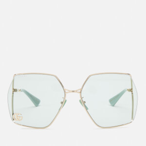 Gucci Women's Metal Frame Sunglasses - Gold/Green