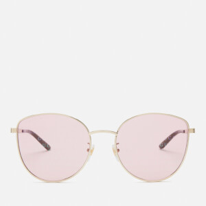 Gucci Women's Monogram Sunglasses - Gold/Pink