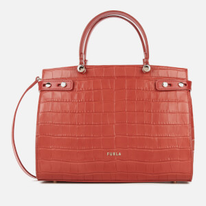 Furla Women's Lady Croco Tote Bag - Chili Oil