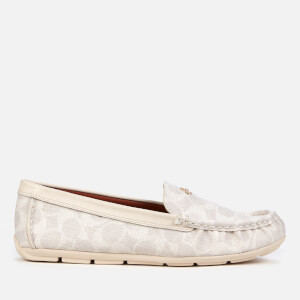 Coach Women's Marley Coated Canvas Driving Shoes - Chalk