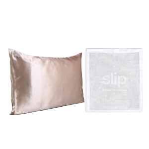 Slip Exclusive Silk Caramel Pillowcase Duo and Delicates Bag (Worth $193.00)
