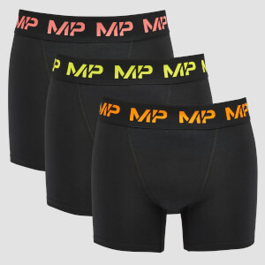MP Men's Coloured logo Boxers (3 Pack) Black