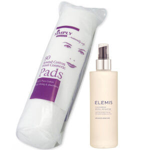 Elemis Smart Cleanse Micellar Water 200ml and Cotton Wool Pads Bundle