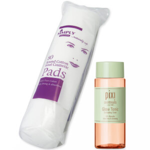 PIXI Glow Tonic 100ml and Cotton Wool Pads Bundle
