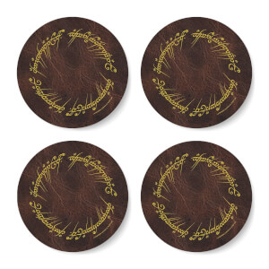 Lord Of The Rings Elvish Script Coaster Set