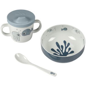 Done by Deer First Meal Set - Sea Friends - Blue