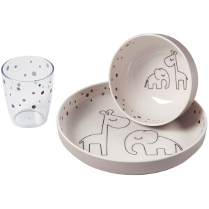 Done by Deer Yummy Mini Dinner Set - Dreamy Dots - Powder