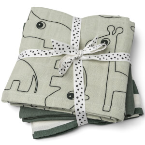Done by Deer Muslin Cloth - 3 Pack - Green