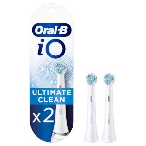 iO Ultimate Clean Opzetborstels - Wit, Verpakking 2-Pak