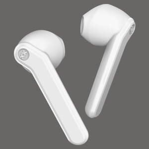 Mixx Streambuds AX True Wireless Earphones with Charging Case 24 Hours Total Play Time - Vanilla Ice White
