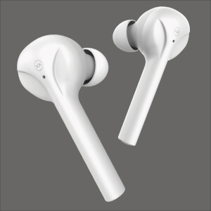 Mixx Streambuds Silicone SX Fit True Wireless Earphones with Charging Case 24 Hours Total Play Time - Vanilla Ice White